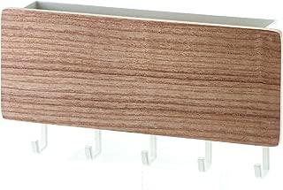 YAMAZAKI Rin Magnetic Wall Organizer- Key Hooks & Tray for Storage