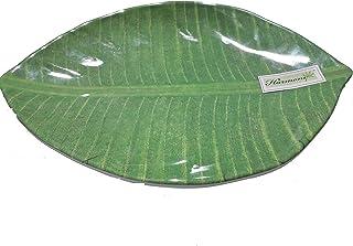 Harmony Leaf Plate, Banana Green, 25 cm x 18 cm x 2.2 cm, 0410
