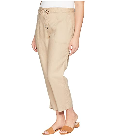 talla extra Ralph rectos marrón de Lauren LAUREN abedul lino Pantalones YwqPnB