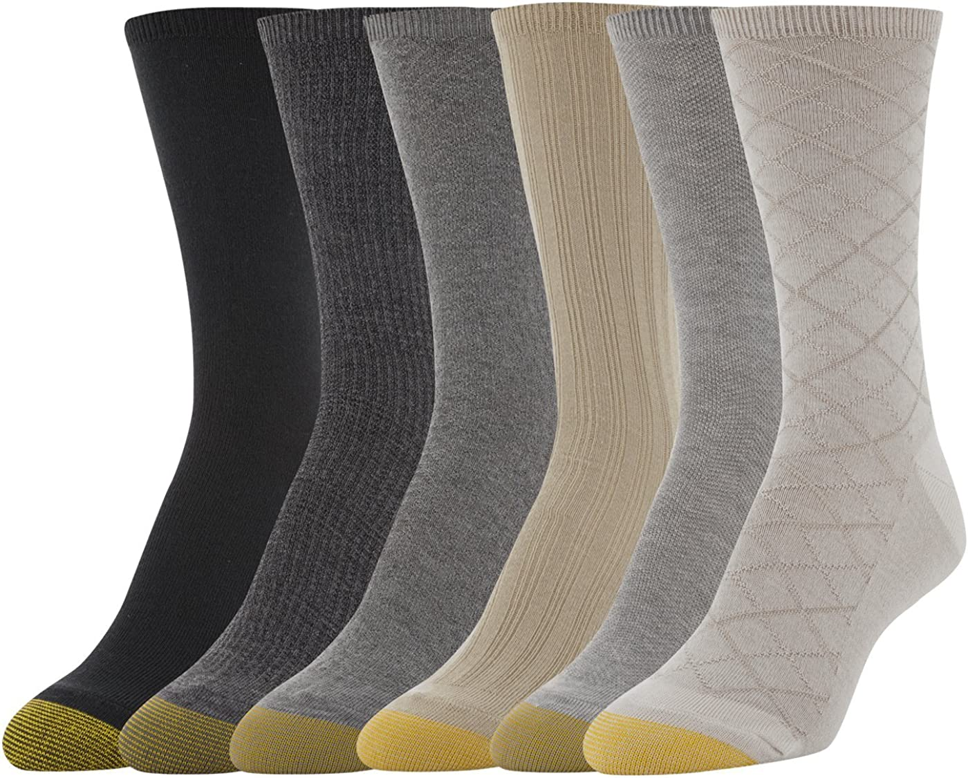 Gold Toe womens Casual Texture Crew Socks, 6 Pairs