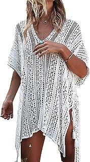 3699abffe3 Tuopuda Femme Maillot de Bain Sarongs Paréo Tunique en Tricot Crochet  Kimono Mini Robe de Plage