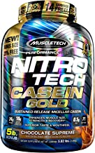 Muscletech Casein Protein Powder | Nitro-Tech | Slow-Digesting Micellar Casein Protein Powder for Women & Men | Protein Po...