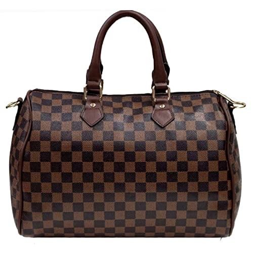 0ec78aa5d0a6 Gossip Girl - Designer Monogram Barrel Boston Bowling Duffel Bag Handbag  With Long Strap Bumble Bee
