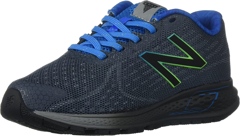 New Balance Boys' Vazee Rush Running Shoe, Grey/Blue, 5.5 M US Big Kid