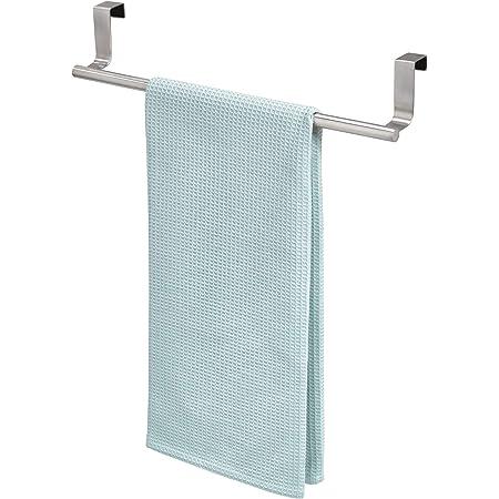 "iDesign Forma Over-the-Cabinet Bathroom Hand Towel Bar Holder - 14"", Brushed Stainless Steel"