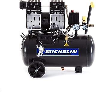 MICHELIN Silent Air Compressor MX24/1-24 liter tank - olievrij - 1 pk motor - maximale druk 8 bar - luchtverplaatsing 106 ...