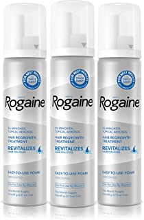 Men's Rogaine 5% Minoxidil Foam for Hair Loss and Hair Regrowth, Topical Treatment for Thinning Hair, 3-Month Supply, 2.11...