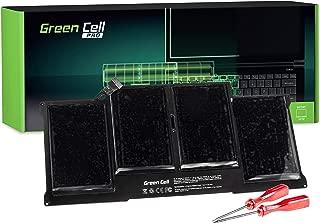 Green Cell® PRO Serie A1377 A1405 A1496 Batería para Apple MacBook Air 13 A1369 A1466 (2010, 2011, 2012, 2013, 2014, 2015) Ordenador (7150mAh 7.6V Negro)