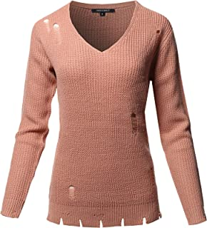 Women's Top Casual Solid Stretch Long Sleeve Knit Sweater