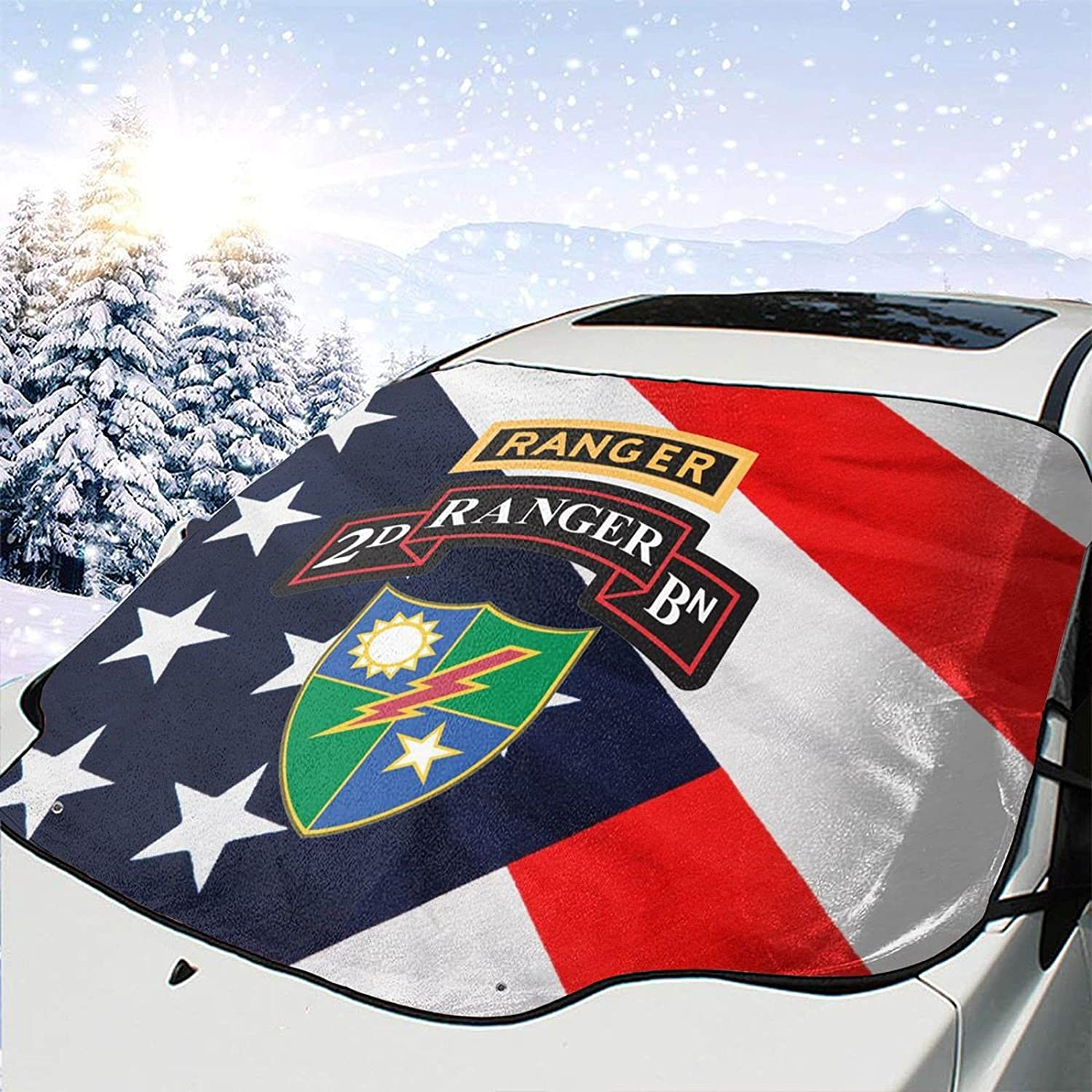 Cheap 3rd Battalion 75th Ranger Regiment Max 40% OFF Snow Ice Rem Windshield Cover