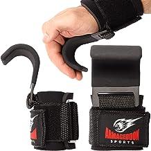 Premium Polshaken Hijsbanden met gewatteerde polswraps voor maximale grip ondersteuning - Handschoenen en pads alternatief...