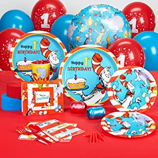 Dr. Seuss 1st Birthday Party Supplies Standard Pack for 16