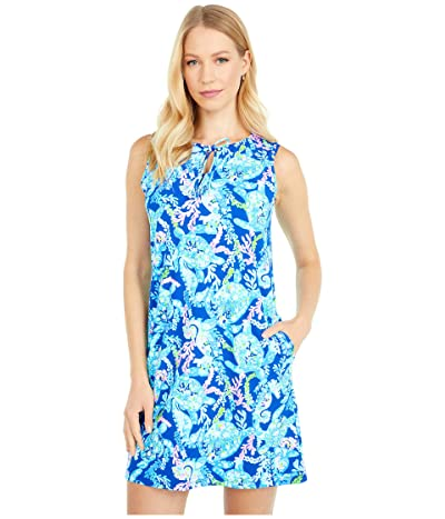 Lilly Pulitzer Johana Cover-Up (Corsica Blue Turtle Villa) Women