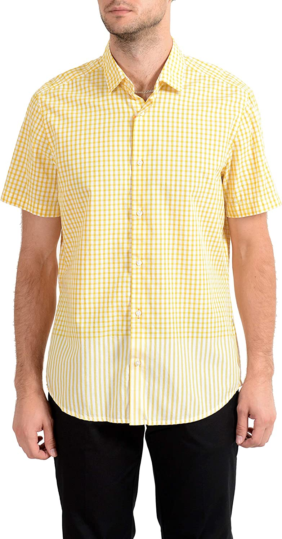 Hugo Boss Rash Men's Regular Stretch Short Sleeve Casual Shirt US M IT 50