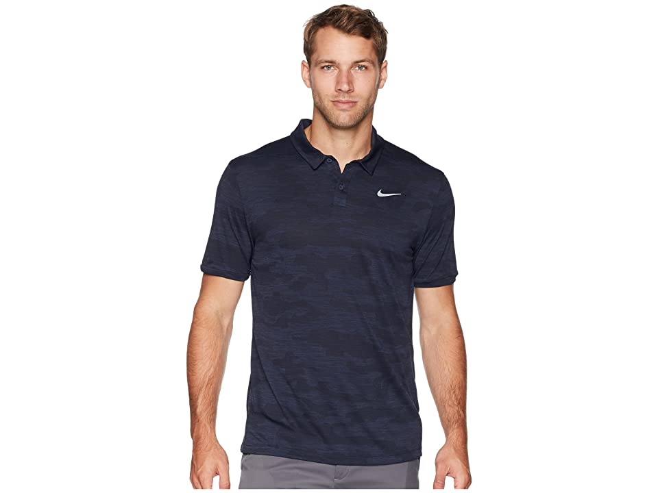 Nike Golf Zonal Cooling Polo Camo (Obsidian/Black/Black) Men