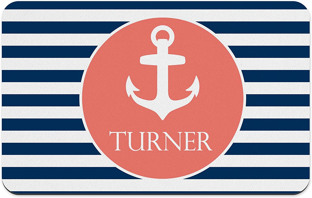 Nautical Anchor POLYESTER Rubber Backed Placemat