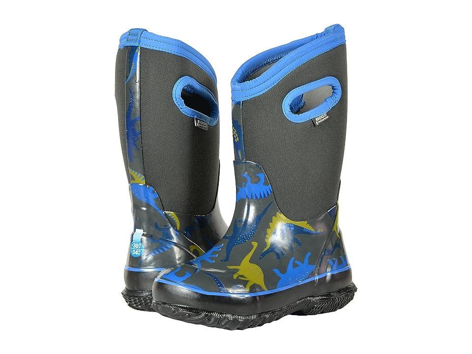 Bogs Kids Classic Dino (Toddler/Little Kid) (Dark Gray Multi) Boys Shoes