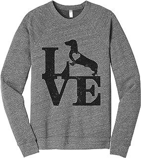 Love Dachshund Dog Women's Cozy Relaxed Fit Fleece Longsleeve Sweater