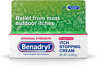 Benadryl Original Strength Anti-Itch Relief Cream for Most Outdoor Itches, Topical Analgesic, 1 oz