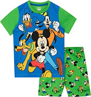 Disney Pijamas de Manga Corta para niños Mickey Mouse