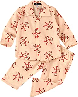 Ayra cotton breathable lightweight baby boy-girl kids night suit | kids pajamas and pants| 2 piece toddler baby boys and g...
