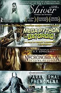Coffret Fantastique : Shiver : L'enfant des ténèbres + Mega Python vs. Gatoroid + Necronomicon : le livre des ténèbres + Paranormal Phenomena