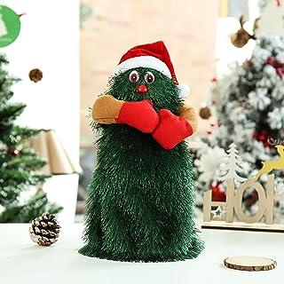 Hengyuan Jouets électriques Amusants d'arbre de Danse de Noël, idée de Noël de poupée d'arbre de père Noël Musicale tourna...