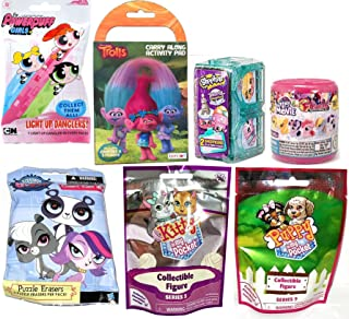 Shop Kitten Dog Pony Troll Mini Bundle 7 Items + 1 Grocery World Vacation Twin Room & Puppy in Pocket / Little Soft Figure / Power Puff / Trolls Activity / Little Pet Puzzle / Blind Bag Fun Girls Toy