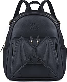 Coofit Mini Backpack for Girls Black Bat Wing Gothic Backpack Mini Daypack Small Backpack Purse for Women