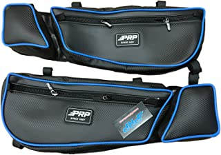 PRP Can-Am Maverick X3 Stock Front Door Bags with Knee Pads (Pair) - Blue