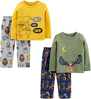 Simple Joys by Carter's Conjunto de Pijama de 4 Piezas (Parte Superior de poliéster y Parte Inferior de vellón) Conjunto d...