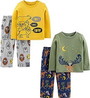 Simple Joys by Carter's Loose-Fit Polyester Pajama Set Niños, Pack de 4