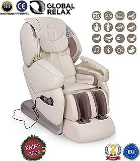 """NAVIDAD -300€ l NIRVANA® Sillón de masaje 3D - Beige (modelo 2019) - Sillon masajeador relax de shiatsu con 9 programas masajeadores - Gravedad y Pared """"Cero"""",magnética, ionizador-Garantía 2 AÑOS"""