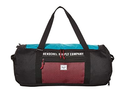Herschel Supply Co. Sutton Carryall (Black/Tile Blue/Raspberry Sorbet) Duffel Bags