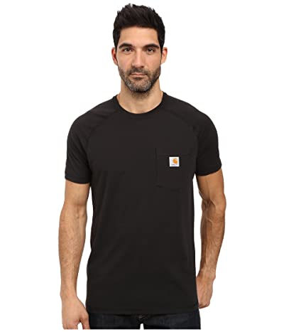 Carhartt Force(r) Cotton Delmont Short-Sleeve T-Shirt (Black) Men