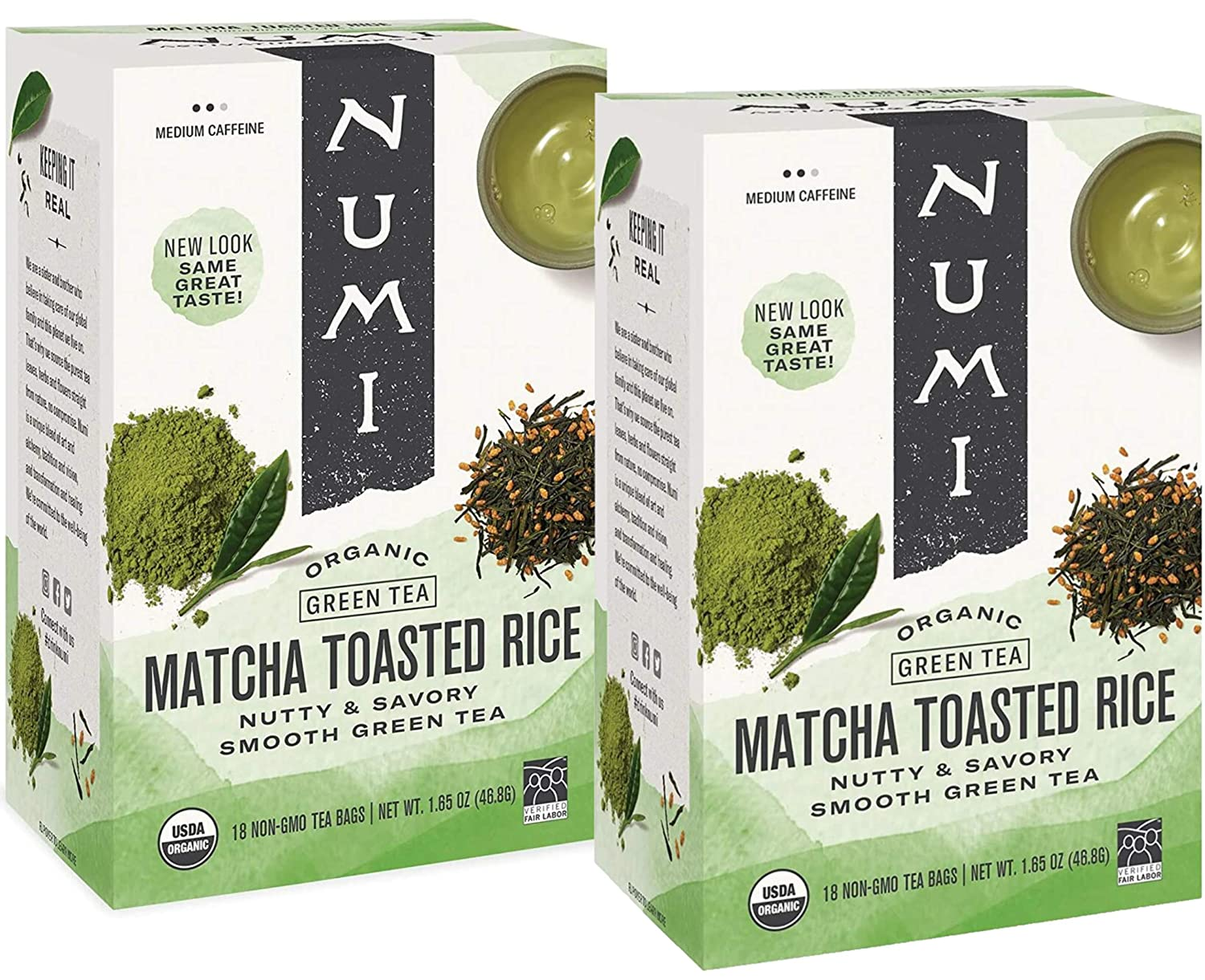 2021 autumn and winter new Numi Tea Matcha Toasted Rice Green Bags Regular dealer Pack of 18 - 2