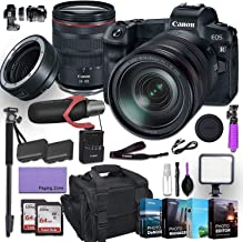 Canon EOS R Mirrorless Digital Camera with 24-105mm f/4L is USM Lens and Mount Adapter EF-EOS R kit Bundled with Deluxe Ac...
