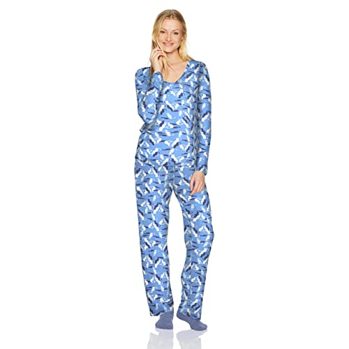 c9bd17ea11 HUE Women s Mini Character Printed Rayon Tee and Pant 3 Piece Pajama Set