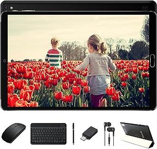Tablette 10 Pouces 4Go RAM 64Go ROM Android 10 Pro GOODTEL Tablettes Tactile avec 8 Cœurs 1,6 GHz | Double Caméra 5+8MP | WiFi | Bluetooth | MicroSD 4-128 Go, avec Clavier et Souris - Noir