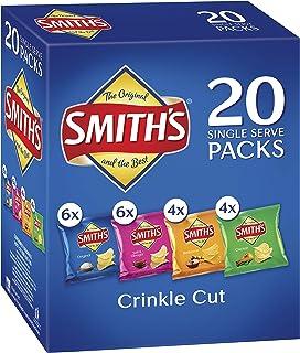 Smiths Crinkle Cut Potato Chips Variety Multipack (20 x 19 grams) - 120 Single Serves (6x380g)