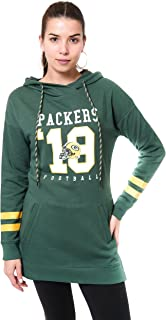Ultra Game Women's NFL Tunic Hoodie Pullover Sweatshirt Terry
