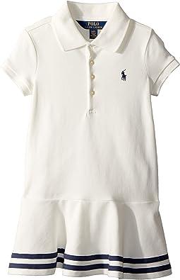 Stretch Piqué Polo Dress (Toddler)