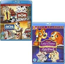 101 Dalmatians (I and II) - Lady and the Tramp (I and II) - Walt Disney 2 Movie Bundling Blu-ray