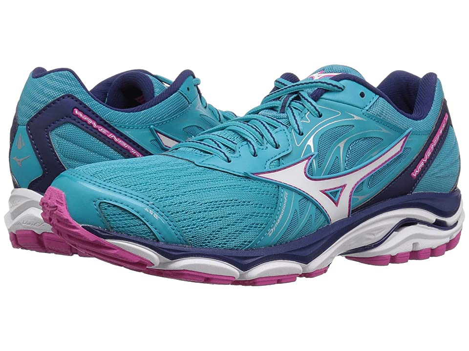 Mizuno Wave Inspire 14 (Peacock Blue/Fuchsia Purple) Girls Shoes
