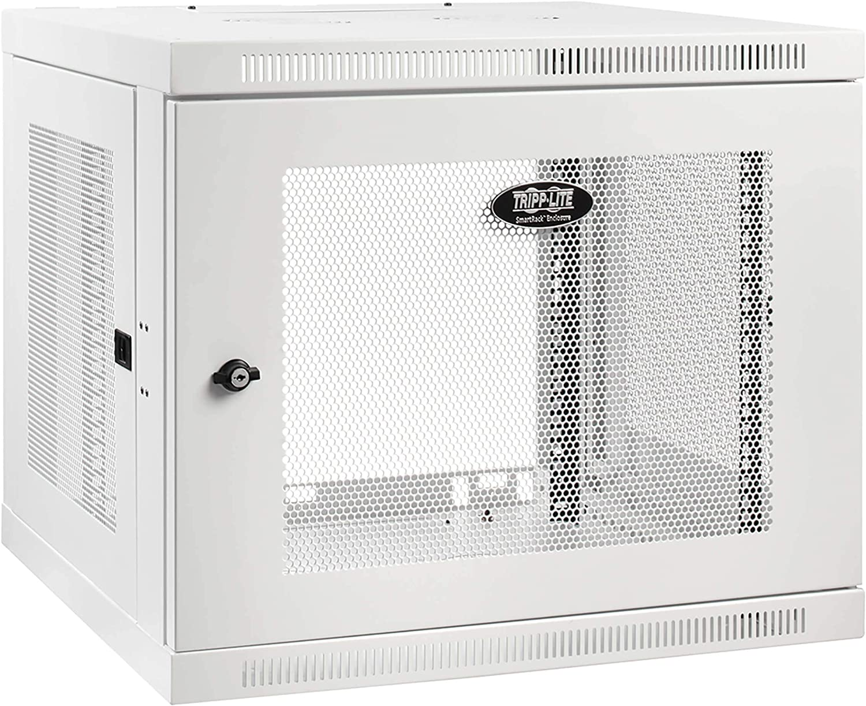 Tripp Lite 9U Low-Profile Switch-Depth-Plus Wall-Mount Rack Enclosure Cabinet, White (SRW9UDPW)