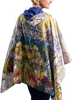 RainCaper Womens Raincoat - Reversible Hooded Rain Cape (Fine Art - Choose Your Color)