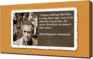 Michelangelo Antonioni Quotes 5 - Canvas Art Print