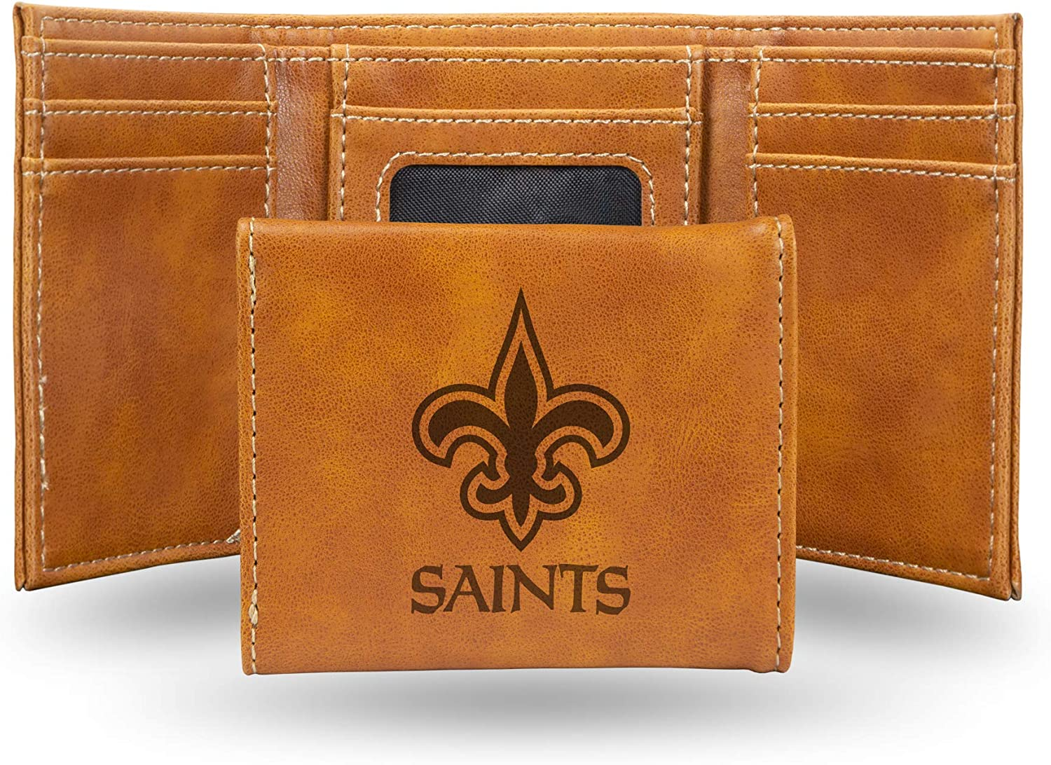 NFL Rico Industries Laser Engraved Easy-to-use Wallet Trifold Max 52% OFF New Orleans S