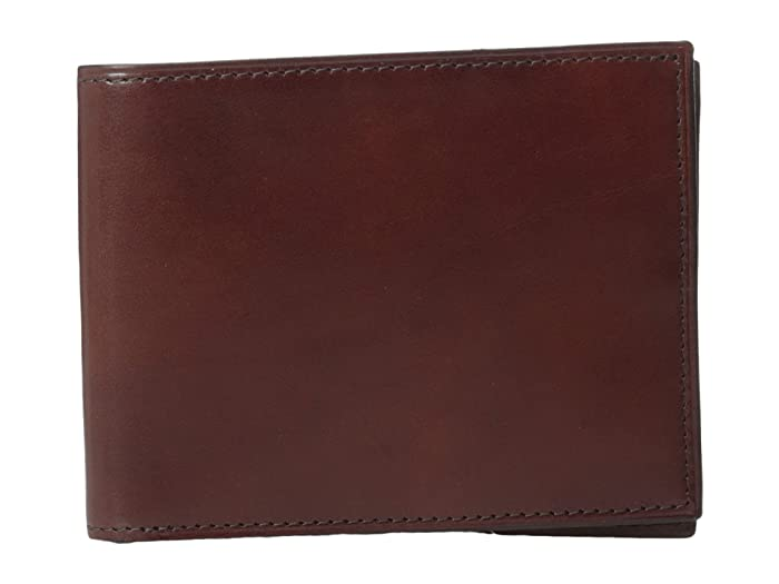 Bosca  Old Leather Collection - Executive ID Wallet (Dark Brown Leather) Bi-fold Wallet