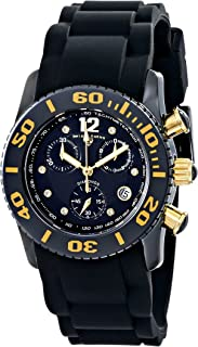 Swiss Legend Women's 10128-01-GA Commander Diamonds Analog Display Swiss Quartz Black Watch